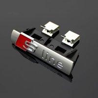 Wholesale 1 S LINE Metal D Car Front Hood Grill Badge Grille Emblem Logo Race for Audi A1 A3 A4 A5 A6 A7 A8 Q3 Q5 Q7 TT