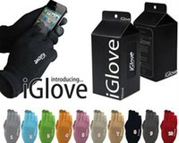 Wholesale iGlove Cell Phone Stylus Gloves Finger Touch Screen Gloves for iphone C S Intellegent iGloves with Retail Pack