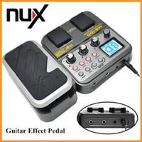 Compra Ad guitar-Registrador de múltiples funciones del sintonizador del tambor del pedal del efecto de la guitarra de NUX MG-100 32pcs / lot DHL del convertidor del alto rendimiento 24bit 44.1kHz AD / DA de 32 pedacitos DSP