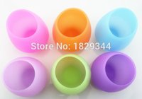 Wholesale New Design Fashion Unbreakable clear Rubber Wine Glass silicone wine glass silicone wine cup wine glasses