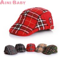 baby beret crochet pattern - New Plaid Pattern Fashion Winter Child Hat Cute Unisex Kid Baby Beret Girl Hat For Boy Cap Baby Hat