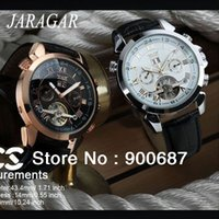 Wholesale Hot Sale Winner Jaragar Multifunction Tourbillon Automatic Mechanical Watch Luxury Brand Mens Watch Hands Date