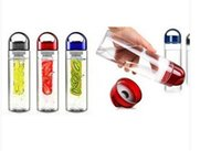 Wholesale 2015 New ML red blue cup Fruit Infusing Infuser Water Bottle Sports Health Lemon Juice Infusion space cup outdoor sports fruit cup
