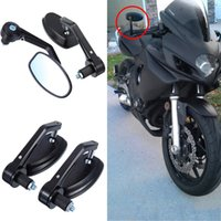 Wholesale Flexible quot Handlebar Aluminum Alloy Motorcycle Accessories Motorcycle Rearview Mirrors Moto And Motor Side Mirrors