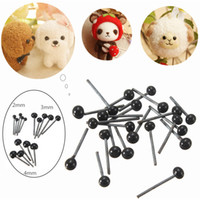 doll accessories - 2015 Brand New Pairs Glass Flat Eyes Kit mm For Needle Felting Craft Baby Animals Dolls DIY Accessories
