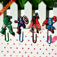 Wholesale Hot Sale The Avengers cartoon Bookmark Clip Memo Clip Paper Clips school stationery office supply Kids Best Gifts