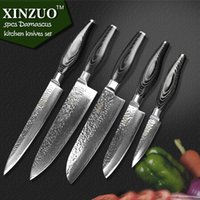 chefs knives set - XINZUO kitchen knife set layer Damascus kitchen knife Japanese VG10 cleaver chef knife kitchen tool