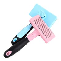 antistatic cleaner - Easy Cleaning Steel Wire Dog Comb Brush Tool Comb For Dog Grooming Trimmer Antistatic Flea Pet Cat Steel Plastic Pet Dog Comb