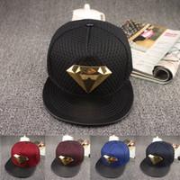 Wholesale Brand Summer Superman Diamond Baseball Cap Hat For Men Women Adjustable Casual Hip Hop Caps Snapback Hats Bone