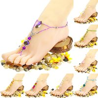 barefoot fine jewelry - Hot Selling Women s Boho Tophus Beads Summer Beach Sandal Ankle Toe ring Barefoot Anklet fine jewelry