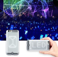 Wholesale New Snake Scale Bluetooth LED DIY CallShow Display Smartphone inch Protector Case Cover Built in Battery Christmas Gifts For iphone s