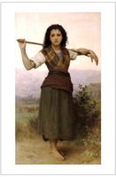 Wholesale figurative art posters canvas painting portrait pictures mural prints art William Adolphe Bouguereau The Shepherdess
