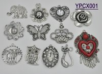 animal parts - 2015 Charms Animals Rushed Jewelry Pendants Scarf Necklace Turquoise Pendant Alloy Parts Owl Elephant Flower Crown Mixed Style