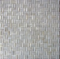 Wholesale mesh mounted seamless stripes interior wall shell mosaic tiles X20 for interior wall decoration