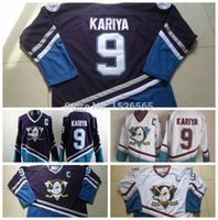 authentic turquoise - Factory Outlet Fast Paul Kariya Jersey Cheap Anaheim mighty Ducks Jersey Kariya Purple Turquoise CCM Vintage Throwback authentic Hockey