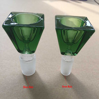 factory direct wholesale - The factory direct sale Hand blown D diamond cut Glass Bowl Glass Bongs accessories Glass Smoking Bowl with two joint size mm mm