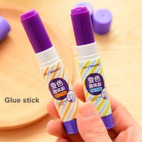 Wholesale 3 solid adhesive Glue stick Disappearing purple glue gun sticks stationery adesivo office material school supplies