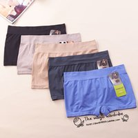 Wholesale Seamless Comfortable Female Panties Ladies Underwear Boxer High Waist Briefs women s boyshort Europe Size