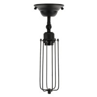 Wholesale Lighting Accessories Antique Cage Shaped Adjustable Wall Lamp Base Light Holder for E27 Bulb Hotel Bar Room Decoration