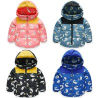 Wholesale cartoon baby down jacket years candy colors girl warm down coat white duck down new boy winter fashion coat AB