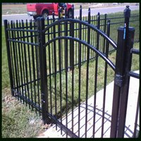 wrought iron fence - Wrought Iron Wire Mesh Fence Gate Black Color mm mm Horizontal Tubes mm Picket Tubes