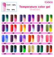 Wholesale 5pcs set Uv Temperature Change Color Gel ml Long Lasting Soak Off Nail Gel Polish Gels for Nail Nail Art Manicure Cosmetic