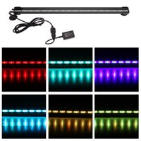 aquarium led lighting - 46cm W LEDs Bubble Aquarium Light Degree RGB Colors IP68 Submersible Remote Control Fish Tank LED Light Bar H15110