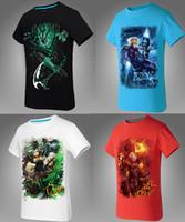 venda por atacado camisa do homem de fábrica-Mais 17 Estilos Plus size XXXL Novos LOL T Shirt Men Novidade Print Liga dos Legends Tops Camisas Homens Short Sleeved Tee Outlet