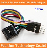 atx motherboard case - 50PCS NEW Audio Pin Female to Pin Male Adapter JACK Cable For Lenovo ATX Motherboard to Host Case PC Chassis Front Panel order lt no t
