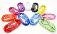 Wholesale Colorful USB Braided Charger Cable for Samsung M Wire Data Sync Nylon Line pin Cords for s g s iphone cable Blackberry HTC