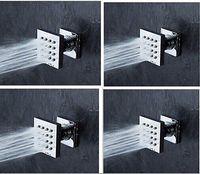 Wholesale 4 Brass Square Massage Shower Body Jet Spray Head For Bathroom Spa Bath Shower