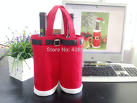 Wholesale big size Velet cotton Fabric merry christmas Gifts Santa pants style Christmas candy bags