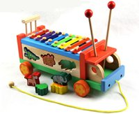 baby tractor toys - New wooden toy Animals tractors piano Animal vehicle instrument Baby toy