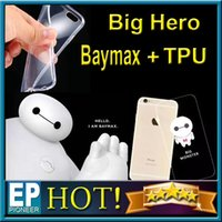 super slim - Big Hero Baymax Case For Iphone inch Iphone inch Super Flexible Clear TPU Case Slim Crystal Back Protect Skin Rubber Phone Cover