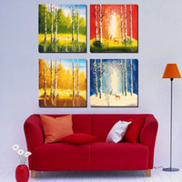 autumn season pictures - Unframed Pieces Canvas Prints tree The four seasons of the forest spring summer autumn and winter chinese characters Pegasus