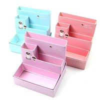 Cheap 2015 New arrival free shipping Hot sale best quality New 1 pcs DIY Cake Style Paper Board Storage Box Desk Decor Stationery Makeup Cosmetic