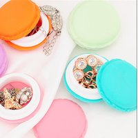 Wholesale Cute Candy Color Macaron Mini Cosmetic Jewelry Storage Box Jewelry Box Pill Case Birthday Gift Display