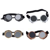Wholesale Steampunk Safety Goggles Steam Punk Windproof Vintage Welding Gothic Cosplay Lenses Protective Glasses H14385