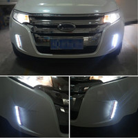 Wholesale Car Daytime Running Lights DRL Driving LED Turn Corner Fog Amber Turn Signal Lights For Ford Edge ECOBOOST Dedicated