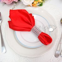 Wholesale 20PCS Diamond Rhinestone Bling Napkin Rings Colors wedding party quinceanera sashes holder