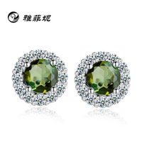 Wholesale S925 sterling silver jewelry boutique Korean Rouge Snow earrings factory direct supply birthday gift