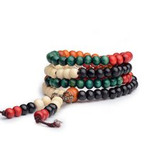 sandalwood beads - Sixi Style Beads Sandalwood Beaded Buddha Malas True Religious Men Women Bracelet Healthy Jewelry Wrist Mala