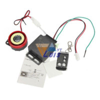 Wholesale Single way Motorcycle Alarm Remote Control Scooter Bike Theft Protection Security Alarm System dB Engine Start Universal