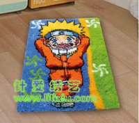Wholesale DIY Needlework Kit Unfinished Crocheting Rug Embroidery Carpet Handmade Floor Mat Hikage NARUTO Picture