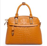 Wholesale 2016 leather bags snake skin women handbag fashion designer brand high quality shoulder bags ladies tote bag european shoulder bags white
