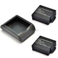 Wholesale 2x900mAh V Lithium Digital Batteries SJCAM SJ4000 SJ Battery Bateria Charger For SJ4000 SJ5000 Plus SJ6000