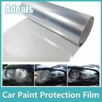 Wholesale Self Adhesive Clear Bra Headlight Bumper Hood Paint Protection Film Vinyl Sheet Headlights Fog Lights Tint car stickers H2012