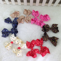 anchor grosgrain ribbon - 3 quot Anchor pattern Grosgrain Bow Without Hair Clip Hair Accessories ribbon hair bows