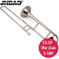 Trombone instrument en laiton France-Trombone ténor professionnel JINBAO JBSL-710 B Flat Trombone plaqué argent Instrument à vent en laiton avec trombone et sac