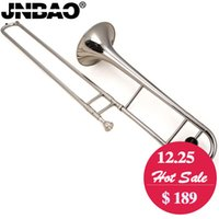 Trombone Tenor professionnel JINBAO JBSL-710 B Flat trombone en argent instrument à vent bronze avec embout et sac trombone